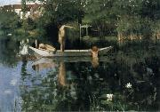 William Stott of Oldham The Bathing Place oil painting picture wholesale