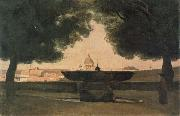 camille corot Fountain of the French Academy oil painting picture wholesale