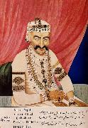 unknow artist Portrait of Maharaja Chandulal,Chief Minister of the Nizam of Hyderabad,Nawab Ali Khan,Asaf Jah Iv oil painting picture wholesale