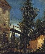 ALTDORFER, Albrecht Landscape with a Footbridge oil painting picture wholesale