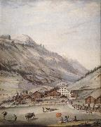 Abraham Fischer Seen Baths of Loeche some Was worth oil painting picture wholesale