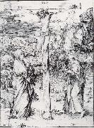 Albrecht Durer Christ on the Cross between the Virgin and St.John oil painting picture wholesale