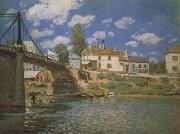 Alfred Sisley The Bridge at Villeneuve-la-Garene oil painting picture wholesale