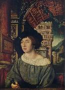 Ambrosius Holbein Portrait of a young man oil