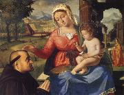 Andrea Previtali The Virgin and Child with a Donor oil painting