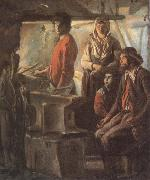 Antoine Le Nain Blacksmith at his forge oil painting picture wholesale