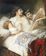 Anton Ebert Goodnight Story oil painting