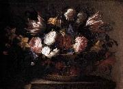 Arellano, Juan de Still-Life with a Basket of Flowers oil