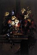 Arellano, Juan de Basket of Flowers on a Plinth oil