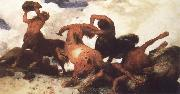 Arnold Bocklin Centaur Fight oil painting picture wholesale