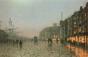 Atkinson Grimshaw Liverpoool from Wapping oil painting picture wholesale