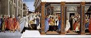 BOTTICELLI, Sandro Baptism of St Zenobius and His Appointment as Bishop oil painting picture wholesale