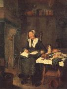 BREKELENKAM, Quiringh van A Woman Asleep by a Fire oil painting artist