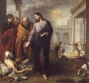 Bartolome Esteban Murillo Christ Healing the Paralytic at the Pool of Bethesda oil painting picture wholesale