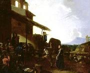 CERQUOZZI, Michelangelo Street Scene in Rome oil painting