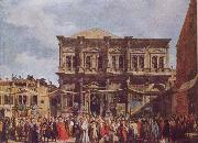 Canaletto The Feast Day of St Roch oil painting picture wholesale