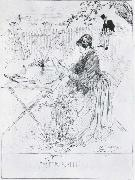 Carl Larsson Ceramics Pen and ink drawing oil painting picture wholesale