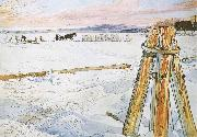 Carl Larsson Harverstion Ice oil painting picture wholesale