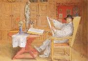 Carl Larsson self-portrait in the Studio oil painting picture wholesale