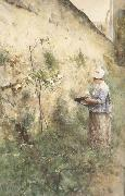 Carl Larsson The Old Wall oil painting picture wholesale