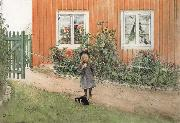 Carl Larsson Brita,a Cat and a Sandwich oil painting picture wholesale