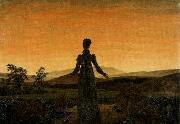 Caspar David Friedrich Woman before the Rising Sun oil painting picture wholesale