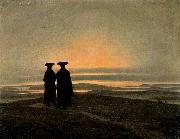 Caspar David Friedrich Evening Landscape with Two Men oil painting picture wholesale