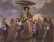 Charles le Brun Chancellor Seguier at the Entry of Louis XIV into Paris in 1660 oil painting artist