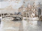 Childe Hassam Columbian Exposition Chicago oil painting picture wholesale
