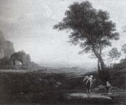 Claude Lorrain Hagar und Ismael in der Wuste oil painting reproduction