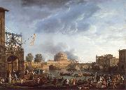 Claude-joseph Vernet A Sporting Contest on the Tiber at Rome oil