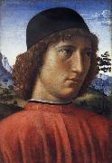 Domenico Ghirlandaio Portrait of a young man in red oil