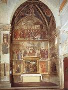 Domenico Ghirlandaio family chapel of the Sassetti oil