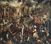 Domenico Tintoretto The Conquest of Constantinople oil painting