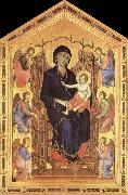 Duccio di Buoninsegna Her Madona and the Nino Entronizados,con six angelical oil painting picture wholesale