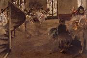 Edgar Degas Balletrepetitie oil painting picture wholesale