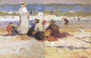 Edward Henry Potthast Prints At the beach oil painting artist