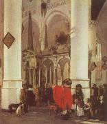 Emmanuel de Witte Interior of the Nieuwe Kerk,Delft with the Tomb of WIlliam i of Orange oil painting artist