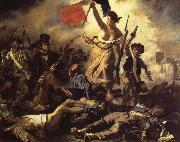 Eugene Delacroix The 28ste July De Freedom that the people leads oil painting picture wholesale