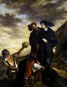 Eugene Delacroix Hamlet and Horatio in the Graveyard oil painting picture wholesale