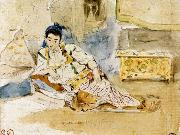 Eugene Delacroix Mounay ben Sultan oil painting picture wholesale