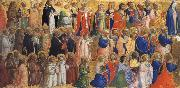 Fra Angelico The Virgin mary with the Apostles and other Saints oil painting picture wholesale