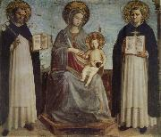 Fra Beato Madonna and Child with St Dominic and St Thomas of Aquinas oil