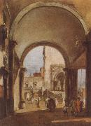 Francesco Guardi An Architectural Caprice oil painting picture wholesale