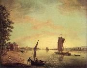 Francis Swaine Scene on the Thames oil painting picture wholesale