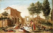 Francisco Bayeu y Subias Lunch on the Field oil painting picture wholesale