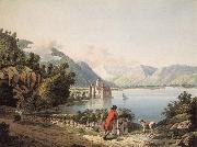 Francois-Hubert Drouais Seen Chateau of Chillon oil painting picture wholesale