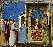 GIOTTO di Bondone The Bringing of the Rods to the Temple oil painting picture wholesale