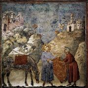 GIOTTO di Bondone St Francis Giving his Mantle to a Poor Man oil painting picture wholesale