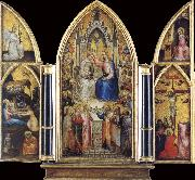 GIUSTO de  Menabuoi The Coronation of the Virgin among saints and Angels oil painting artist